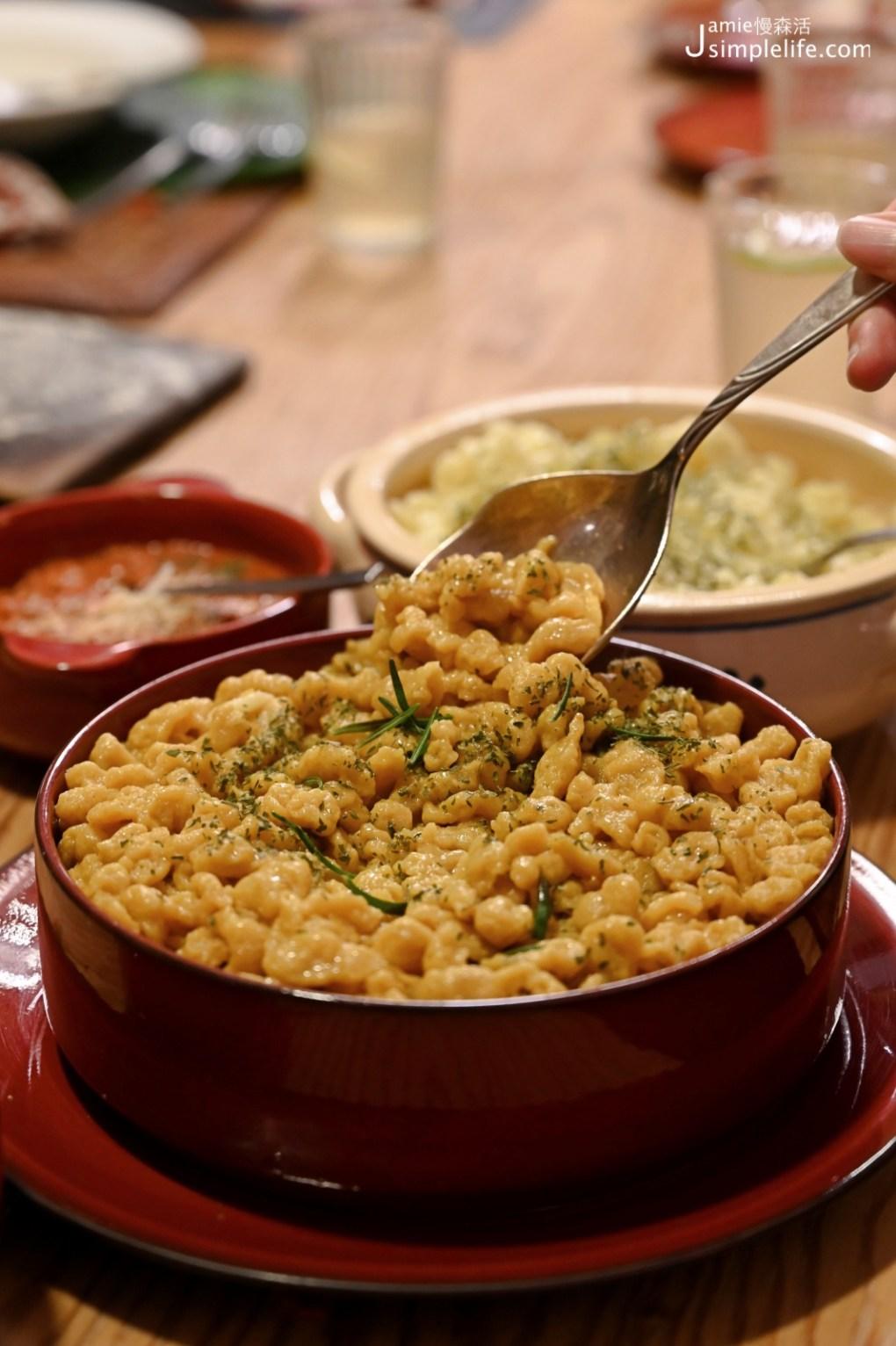 德台夫妻與「恰比兔子」的故事 無菜單料理 德國麵疙瘩薑黃口味