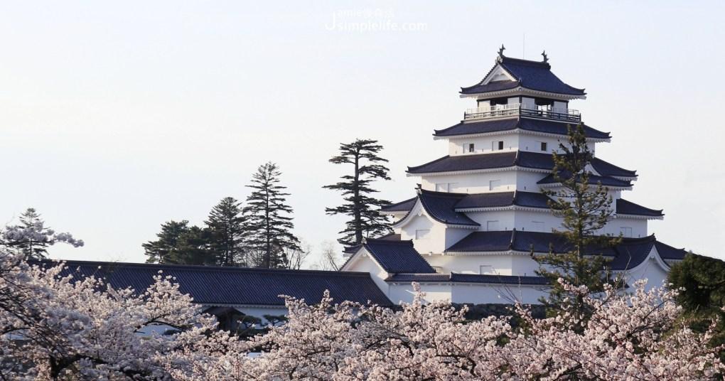 日本東北「會津若松城」欣賞櫻花開滿福島鶴ヶ城的浪漫美
