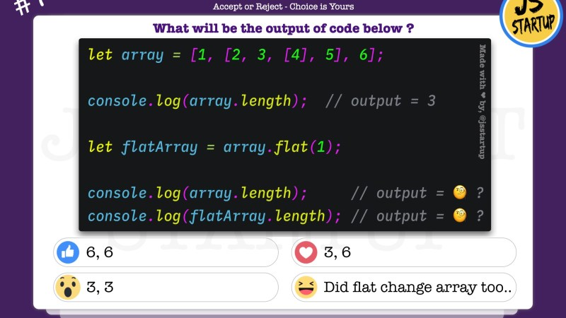 JavaScript Quiz – Find out the array length after flat method
