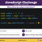 JavaScript Quiz - what does the async array map function return - JS Startup