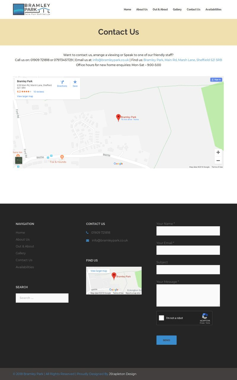 Bramley Park Contact Us