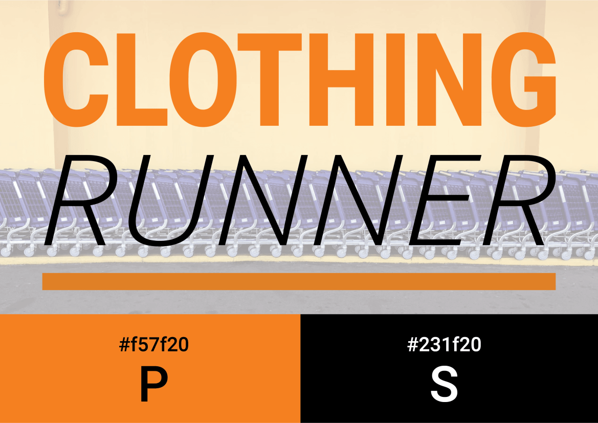 ClothingRunner Logo Colours