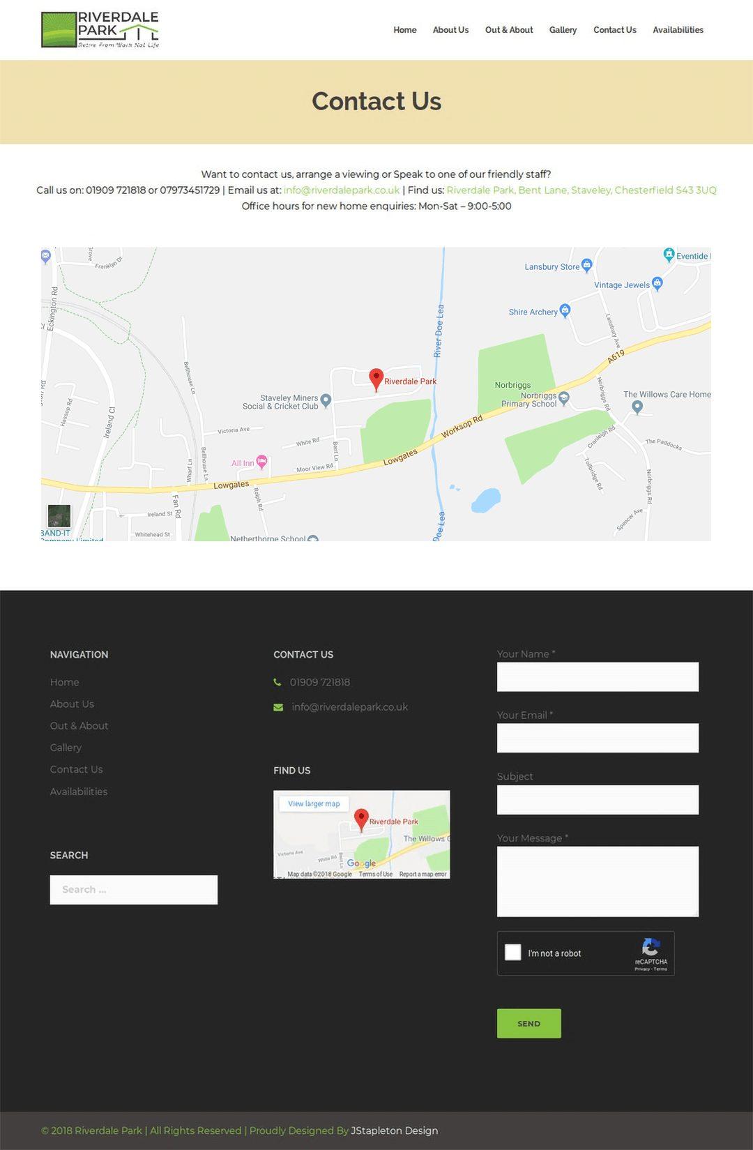 Riverdale Park Contact Us