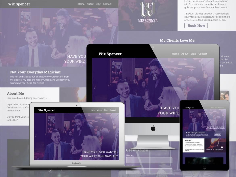 Wiz-Spencer-Entertainment-Web-Design-Mock-Up