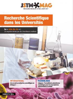 """La Une du magazine sur la """"Recherche scientifique dans les Universités"""""""
