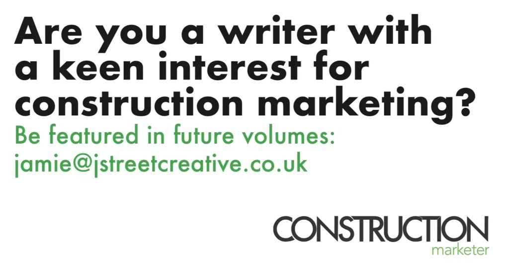Construction Marketer get involved