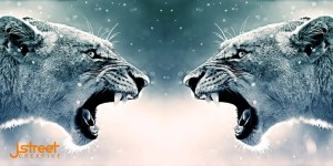Lion face off image to represent small construction business marketing potential