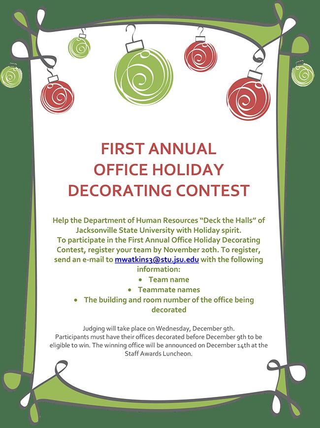 Office Christmas Decorating Contest Invitation