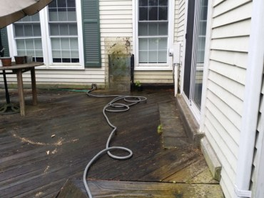 Prior to Power Washing or Pressure Washing Deck and Patio