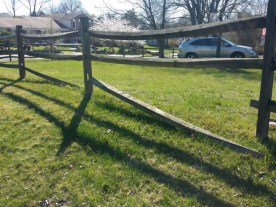 Before Fence Repair in North Potomac
