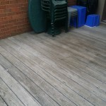 Before Power Washing / Pressure Washing of a Treated Wood Deck in Montgomery Village Maryland