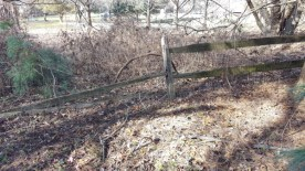 Before Fence Repair by JSV Lawn Care Service, JSV Lawns, JSV Lawns of MD. Lawn Care, Landscaping, Gaithersburg, Montgomery County, Maryland