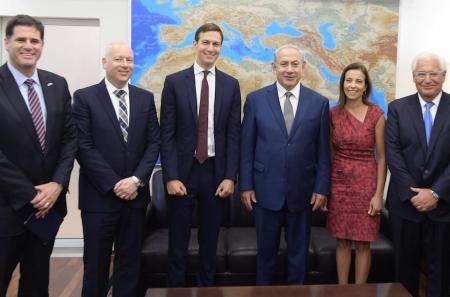 Image result for Greenblatt, Kushner, Netanyahu, Powell, and US Ambassador to Israel David Friedman