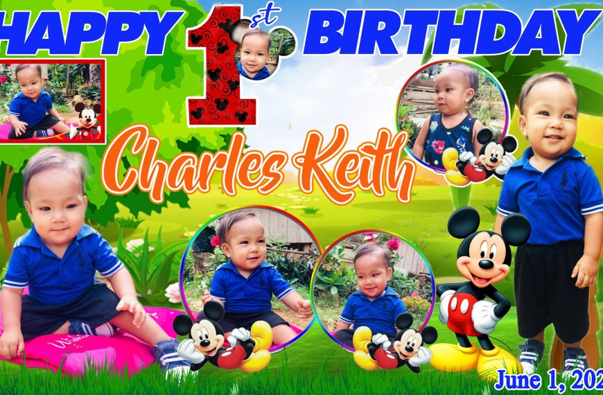 Mickey Mouse Theme 1st Birthday Tarpaulin Design