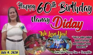 60th Birthday Tarpaulin Design