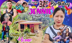 Birthday and Home Blessing Tarpaulin Design