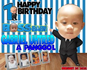 Boss Baby Theme 1st Birthday Tarpaulin Design