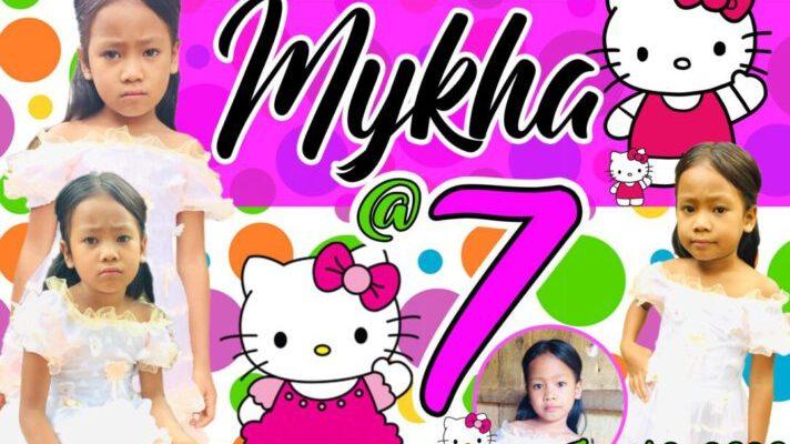7th Birthday Hello Kitty Tarpaulin Design