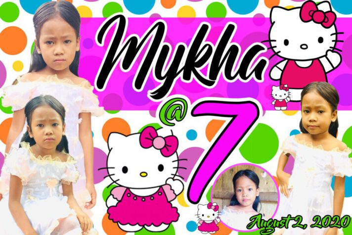 7th Birthday Hello Kitty Tarpaulin Design