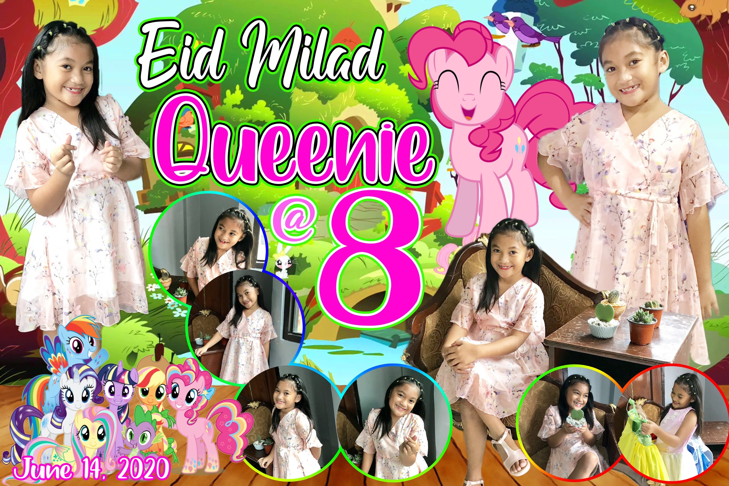 Little Pony 8th Birthday Tarpaulin Design