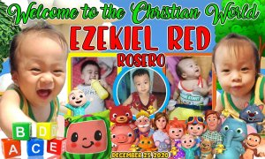Christening Tarpaulin Design In Cocomelon Theme by JTarp - Layout