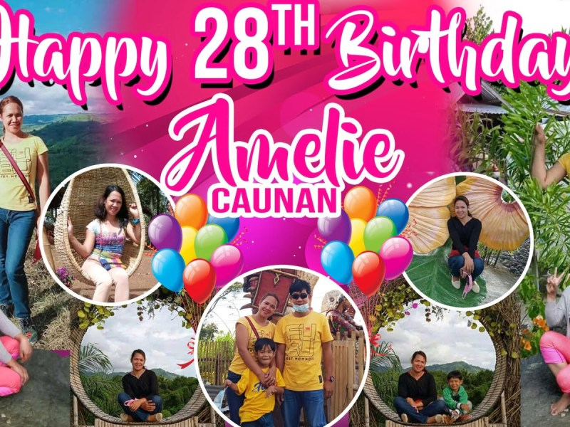 28th Birthday Tarpaulin Design