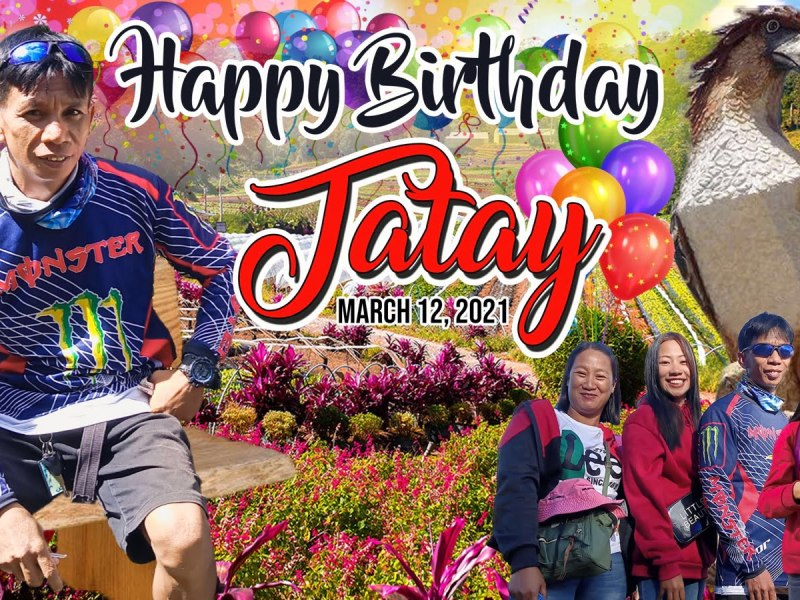 Birthday tarpaulin Design for Fathers