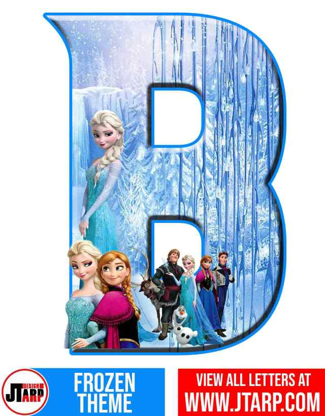 Letter B Frozen Alphabet Letters Printable Free