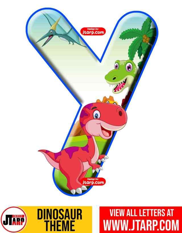 Letter Y Free Printable Dinosaur Alphabet Letters