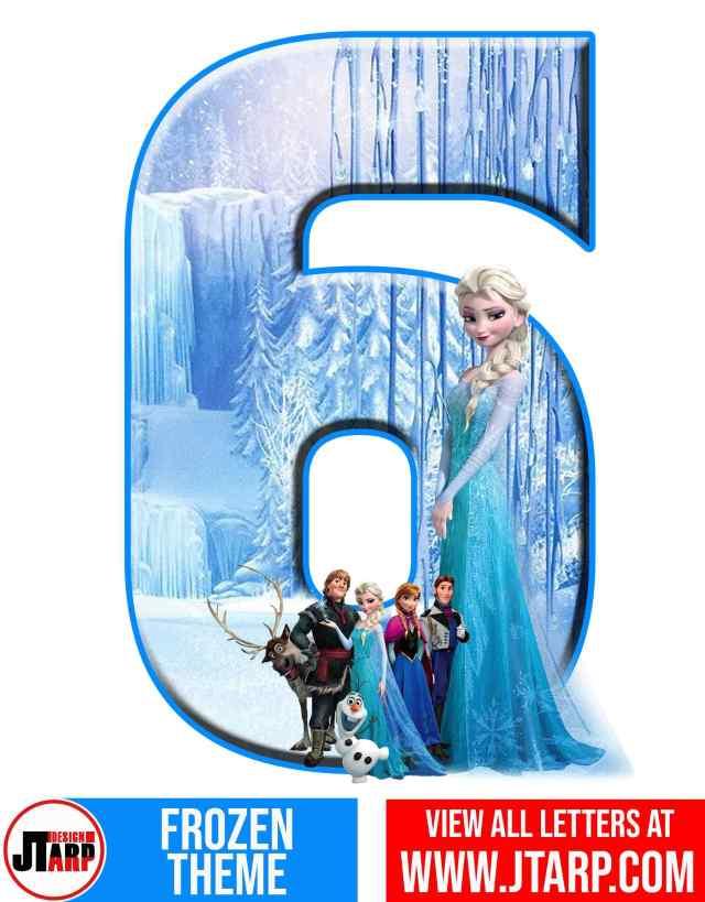 Number 6 Frozen Alphabet Letters Printable Free