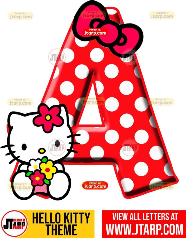 Letter A hello kitty printable letters design