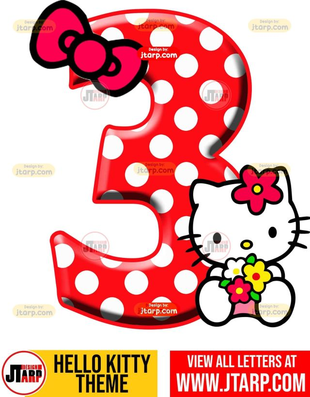 Number 3 hello kitty numbers 1 10 free download