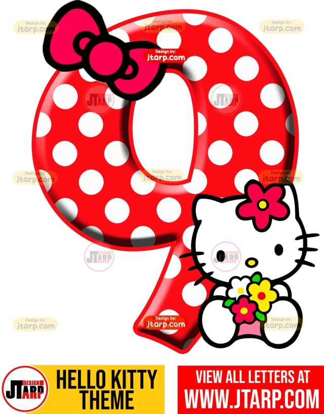 Number 9 hello kitty numbers 1 10 free download