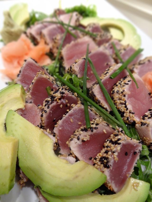 Sesame Crusted Tuna With Wasabi Vinaigrette Jta Wellness San Antonio Titians