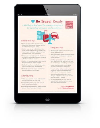 JTB Be Travel Ready Guide Photo