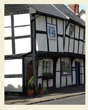 St Columba's Cottage, Weobley Postcard Closeup - Ref L08