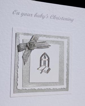 Christening Day Christening Card Closeup - Ref P136