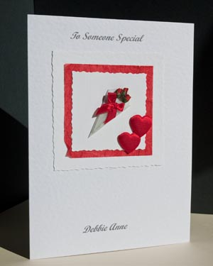 Bouquet Valentines Card Angle - Ref P146b