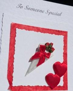 Bouquet Valentines Card Closeup - Ref P146b