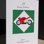 Motorbike - Men's Birthday Card Angle - Ref P148