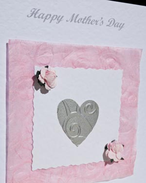 Heart Mother's Day Card Closeup - Ref P155