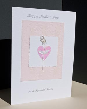 Rose Mother's Day Card Angle - Ref P156