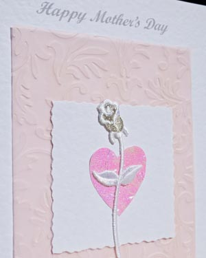 Rose Mother's Day Card Closeup - Ref P156