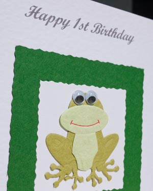 Frog - Boys Birthday Card Closeup - Ref P162
