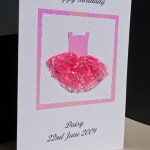Ballet dress - Girls Birthday Card Angle - Ref P173