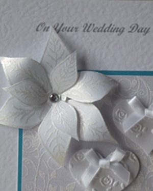 Elegant Wedding Card Closeup - Ref 184
