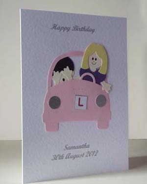 Learner Driver - Women's Birthday Card Angle - Ref P207