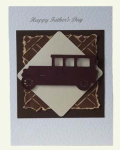 Veteran Car Fathers Day Card Front - Ref P208