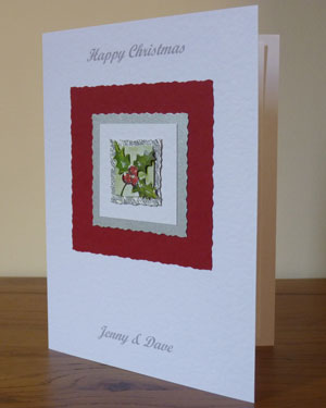 Holly Christmas Card Angle - Ref PC595