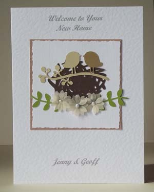 New Home Special Occasion Card Front- Ref P183